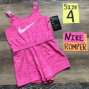 NWT Nike Girls Size 4 DRI-FIT Romper